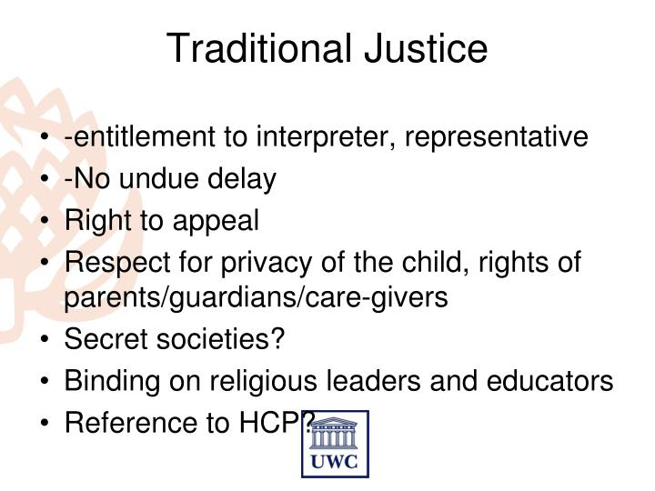 Traditional Justice