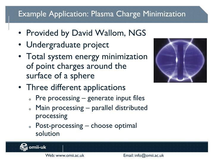 Example Application: Plasma Charge Minimization