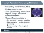 example application plasma charge minimization