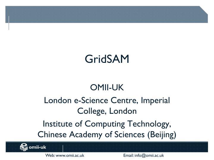 GridSAM