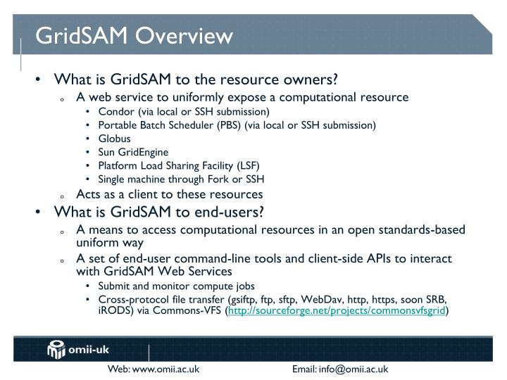 GridSAM Overview