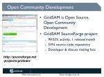 open community development