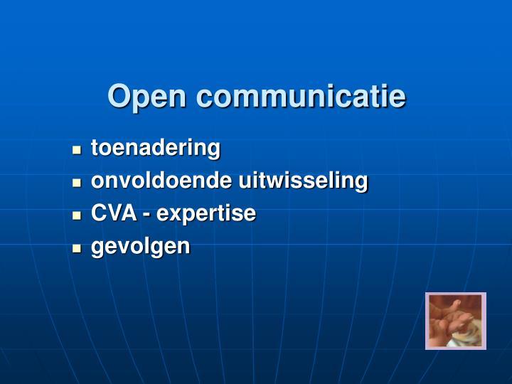 Open communicatie