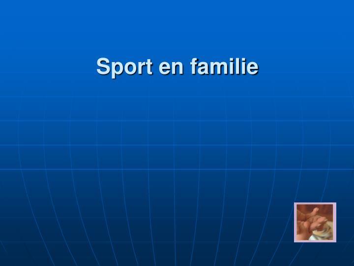 Sport en familie