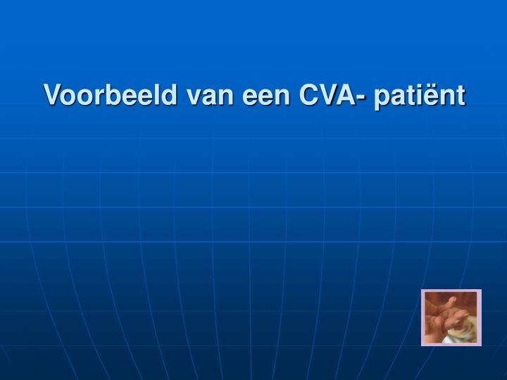 Voorbeeld van een CVA- patiënt