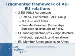fragmented framework of au eu relations