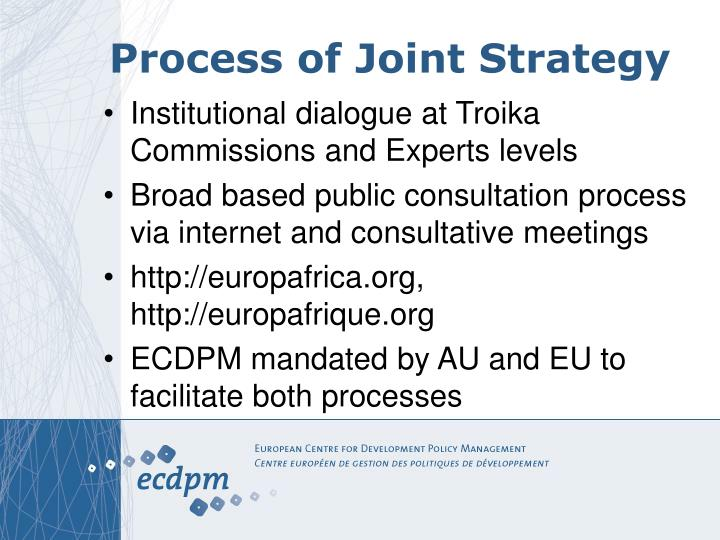 Process of Joint Strategy