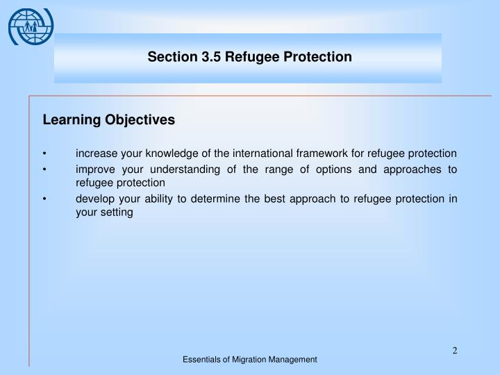 Section 3 5 refugee protection