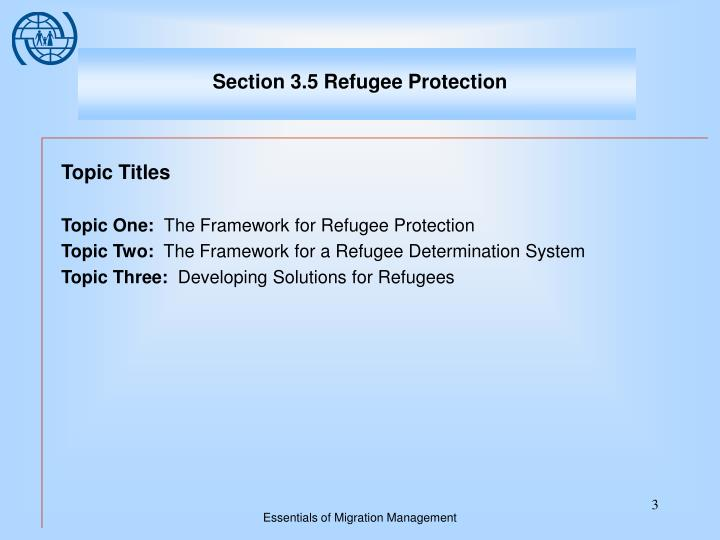 Section 3 5 refugee protection1