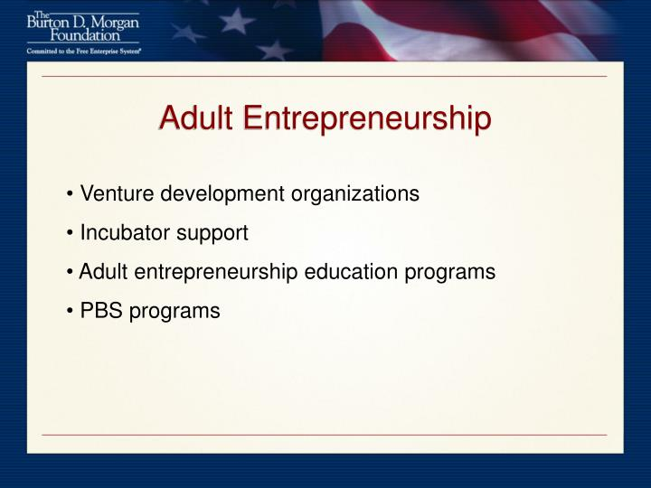Adult Entrepreneurship
