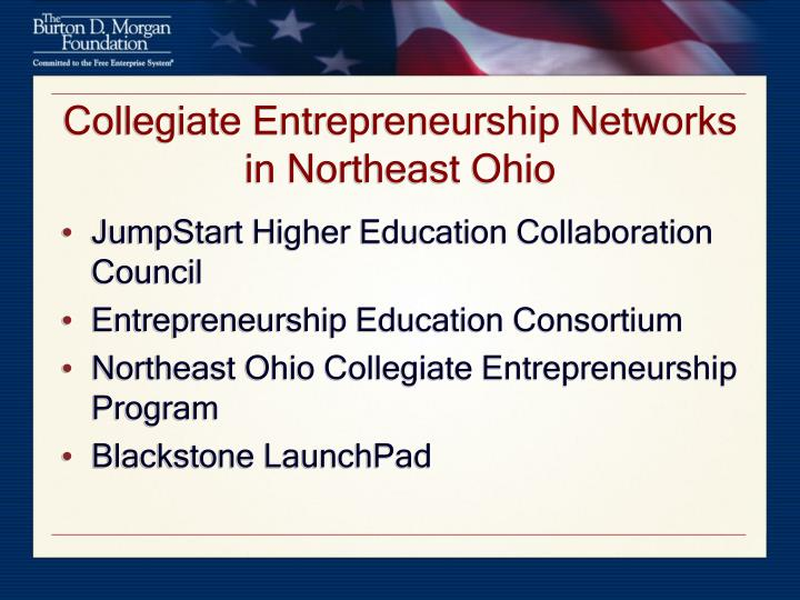 Collegiate Entrepreneurship Networks in Northeast Ohio