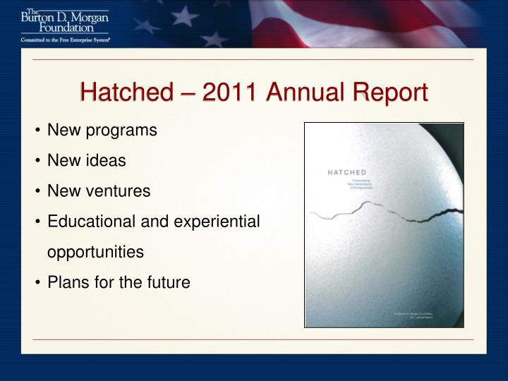 Hatched – 2011 Annual Report