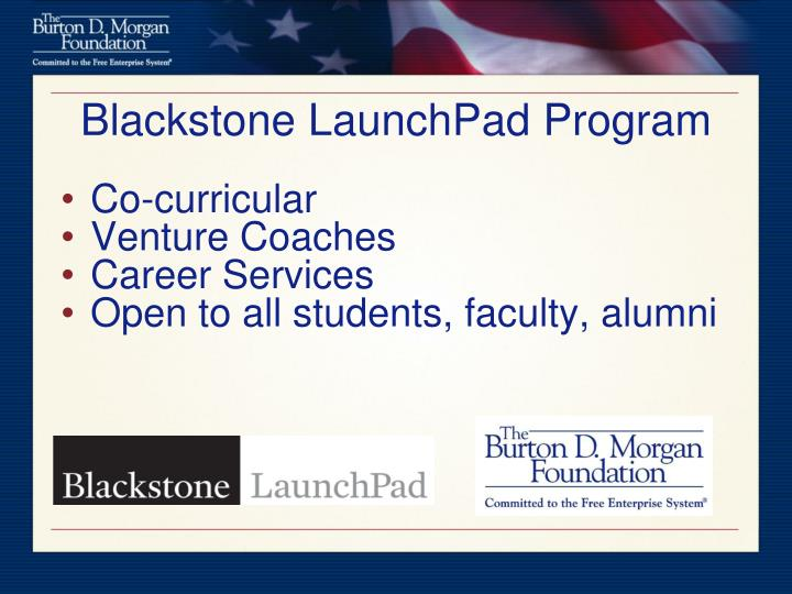 Blackstone LaunchPad Program
