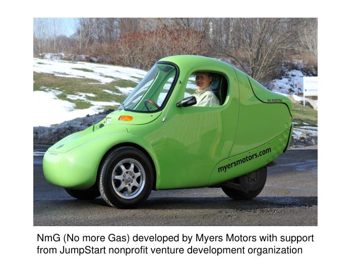 NmG (No more Gas) developed by Myers Motors with support from JumpStart nonprofit venture development organization