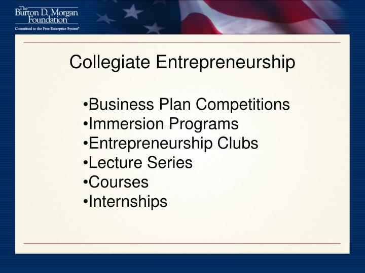Collegiate Entrepreneurship