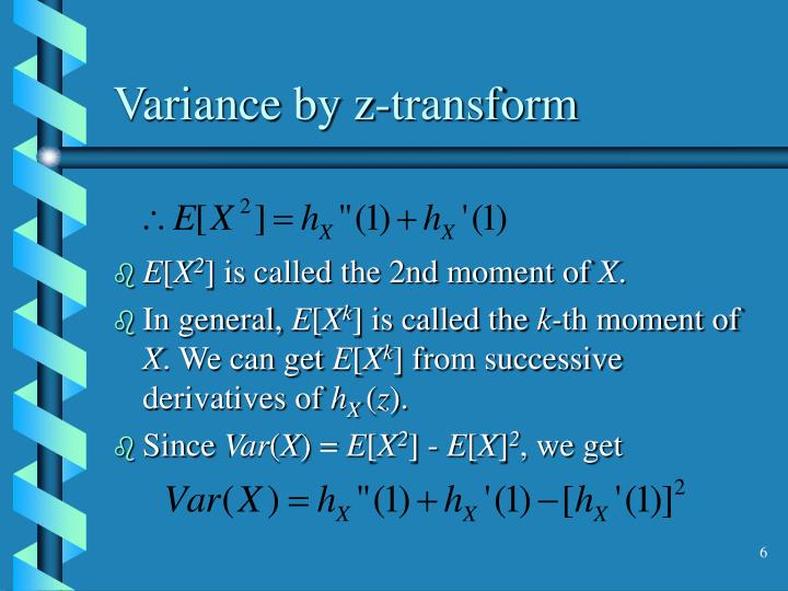 Variance by z-transform