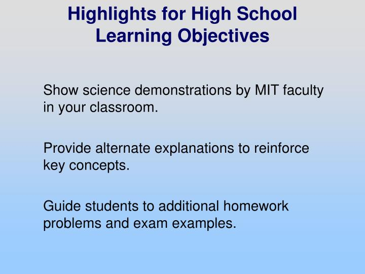 Show science demonstrations by MIT faculty in your classroom.