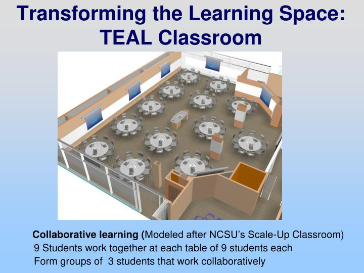 Transforming the Learning Space: TEAL Classroom