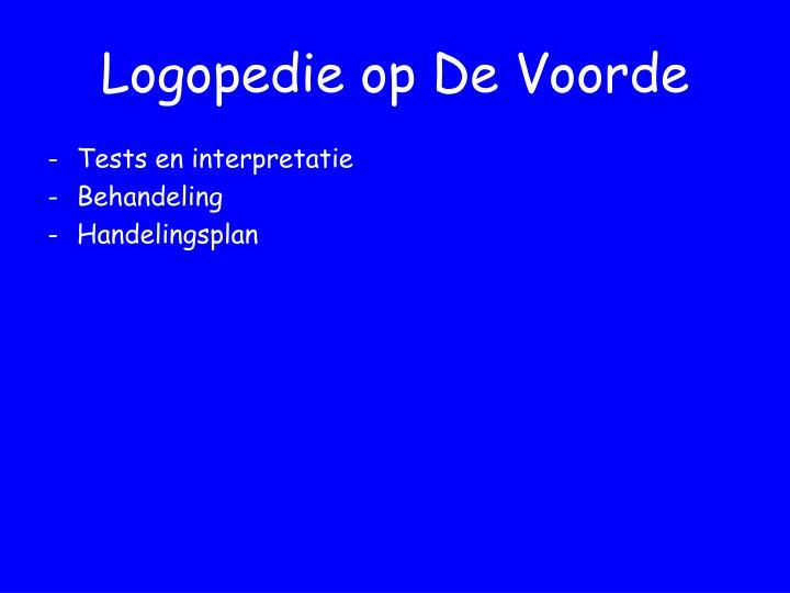 Logopedie op De Voorde