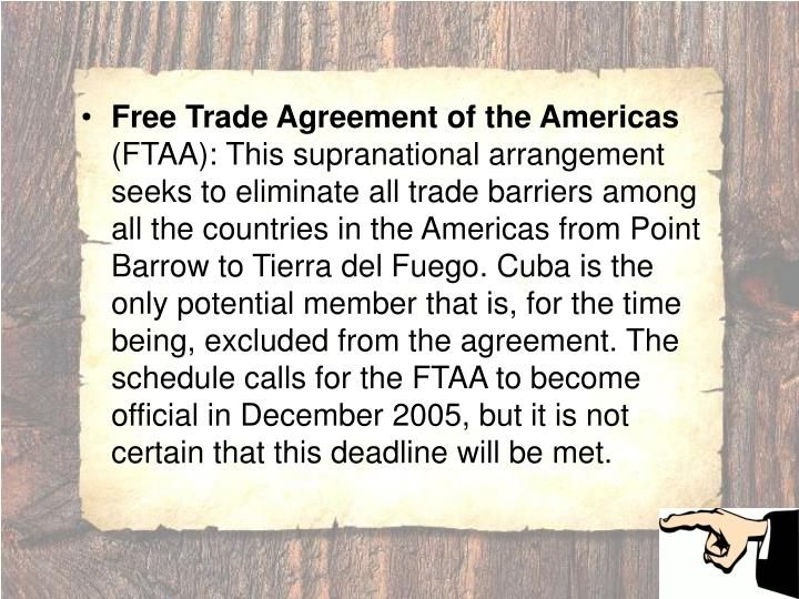 Free Trade Agreement of the Americas