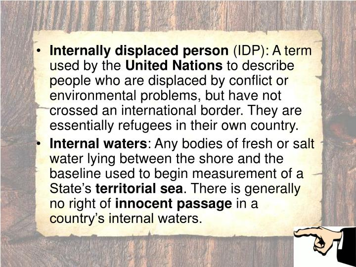 Internally displaced person