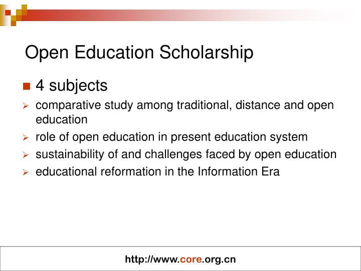 Open Education Scholarship