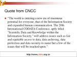 quote from cncc