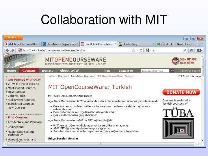 Collaboration with MIT