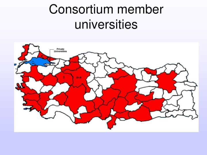 Consortium member universities