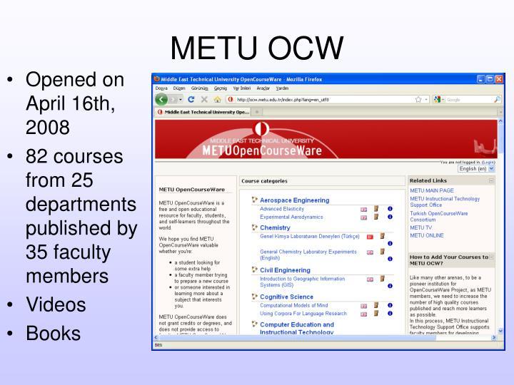 METU OCW