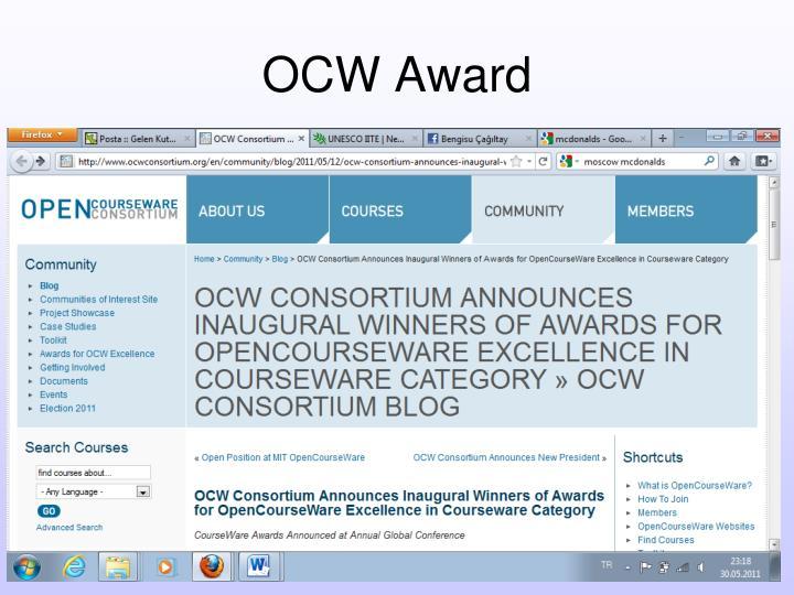 OCW Award
