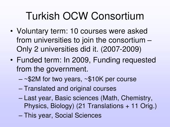 Turkish OCW Consortium