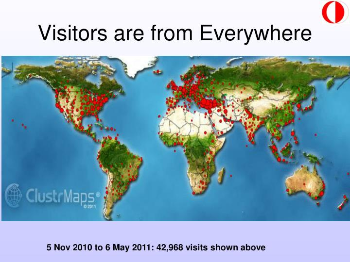 Visitors are from Everywhere