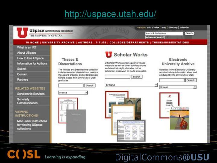 http://uspace.utah.edu/