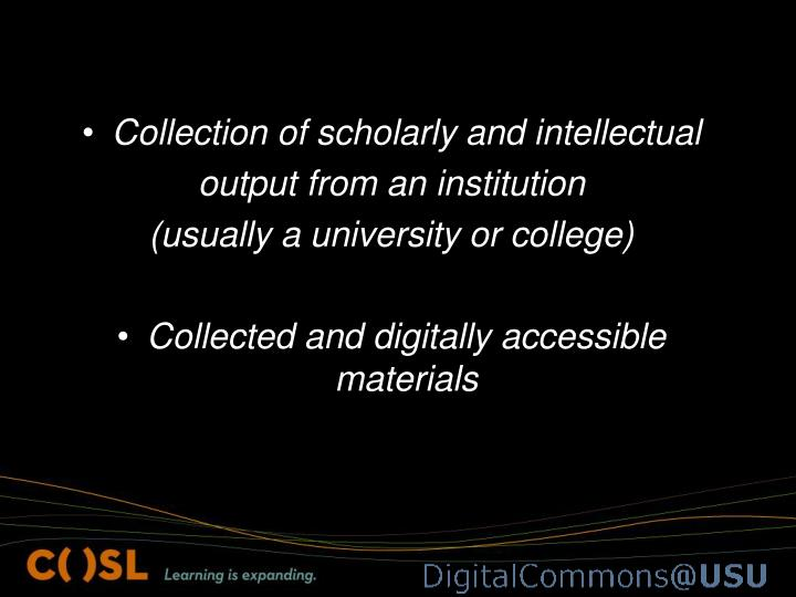 Collection of scholarly and intellectual
