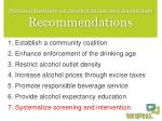 national institute on alcohol abuse and alcoholism recommendations