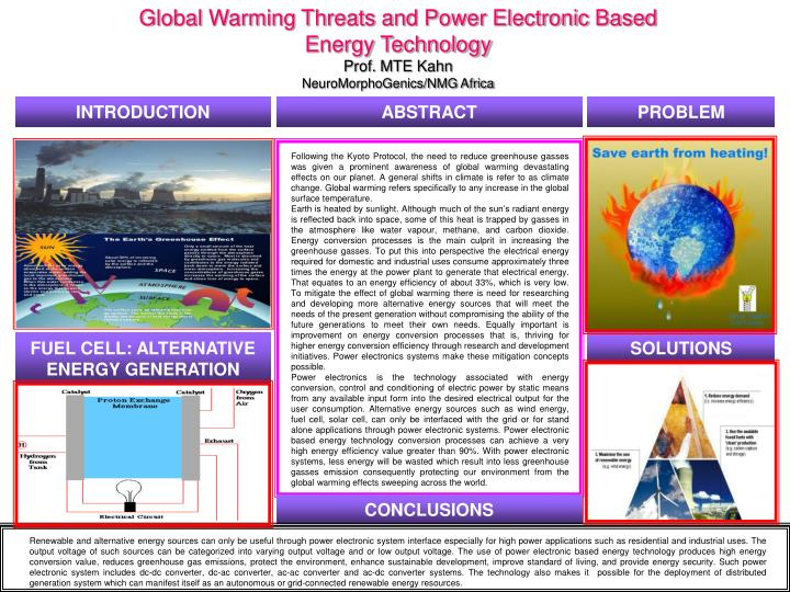 Global Warming Threats and Power Electronic Based Energy Technology