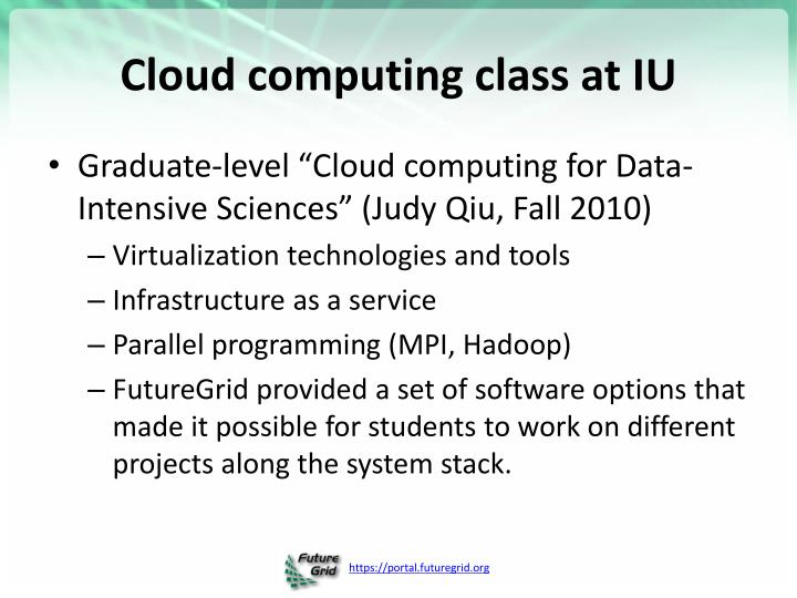 Cloud computing class at IU