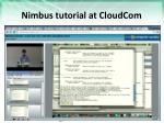 nimbus tutorial at cloudcom1