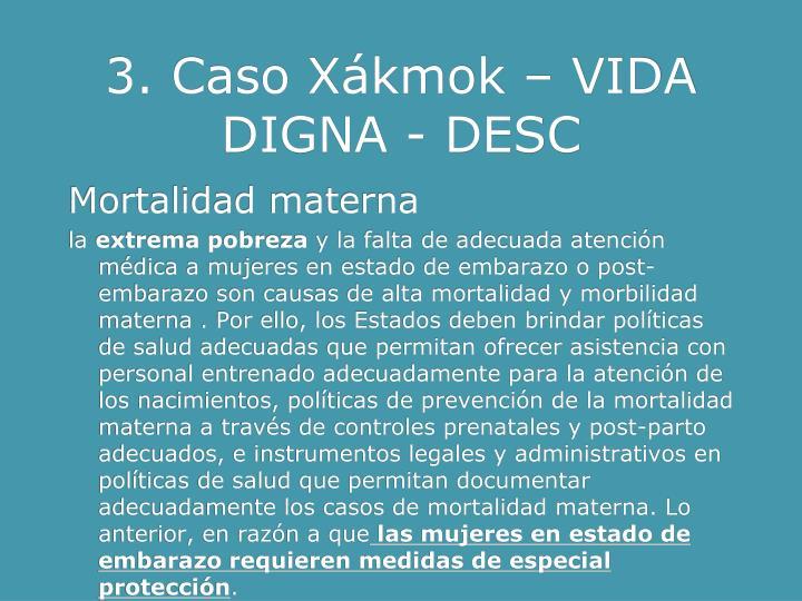 3. Caso Xákmok – VIDA DIGNA - DESC