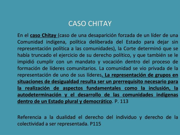CASO CHITAY