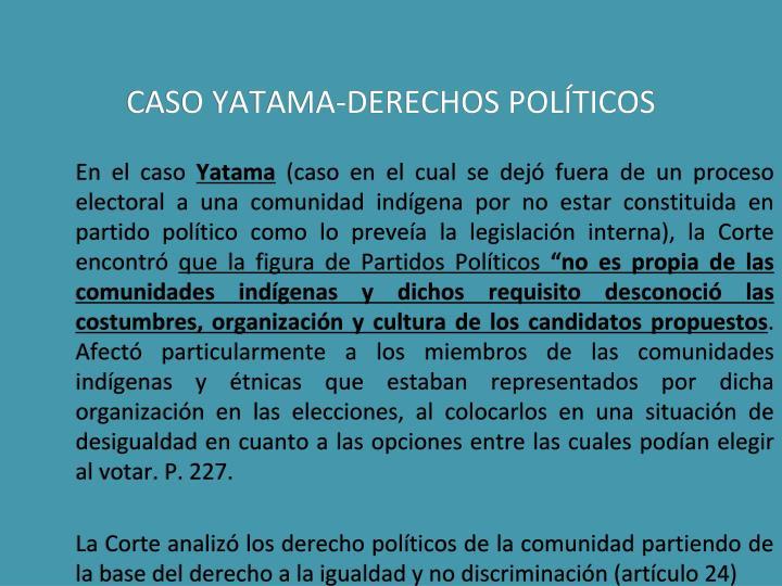 CASO YATAMA-DERECHOS POLÍTICOS