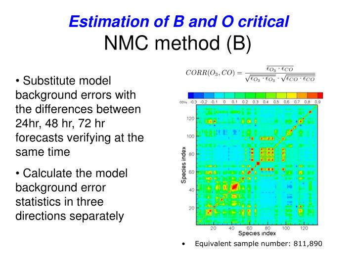 Estimation of B and O critical
