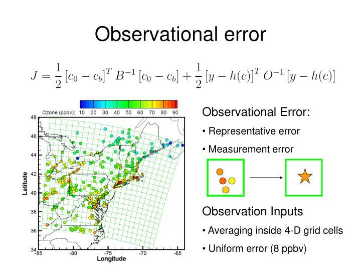 Observational error
