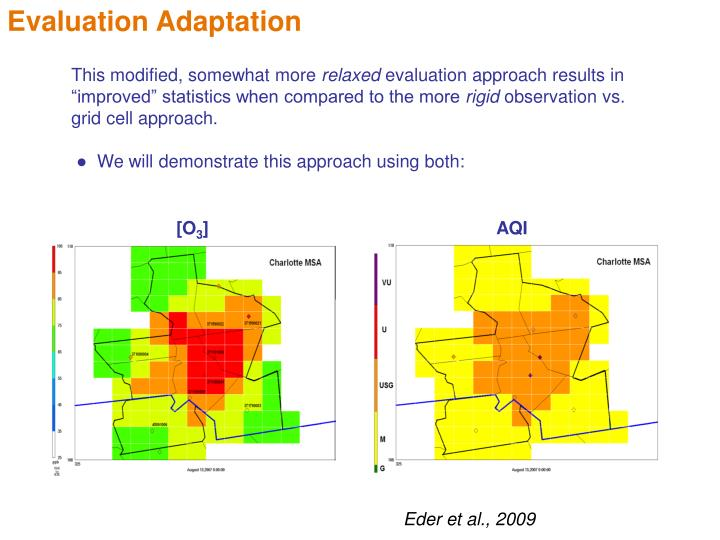 Evaluation Adaptation