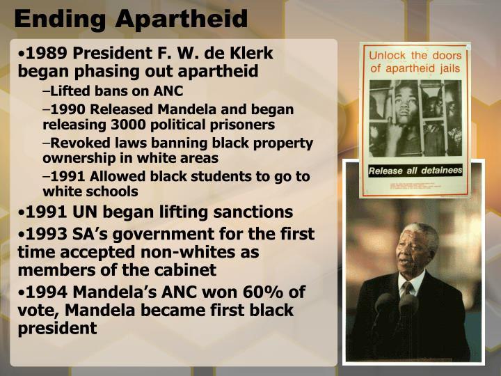 Ending Apartheid