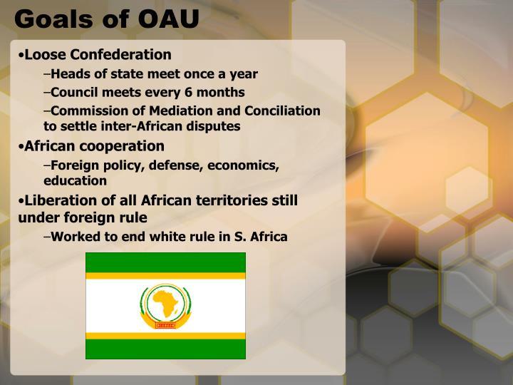 Goals of OAU