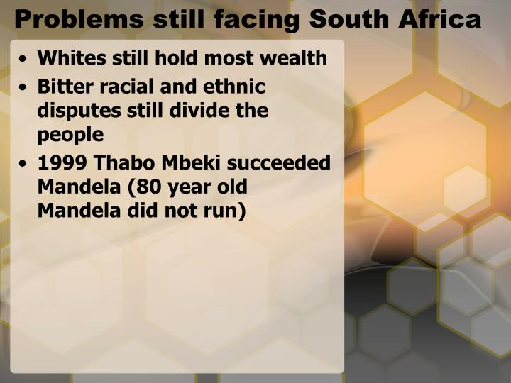 Problems still facing South Africa