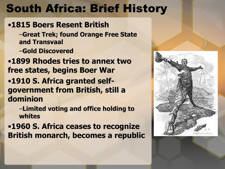 South Africa: Brief History