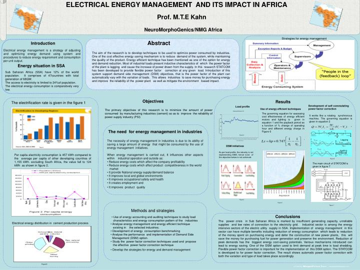 ELECTRICAL ENERGY MANAGEMENT  AND ITS IMPACT IN AFRICA